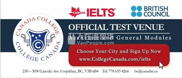 雅思考试授权地点 & IELTS Test Preparation