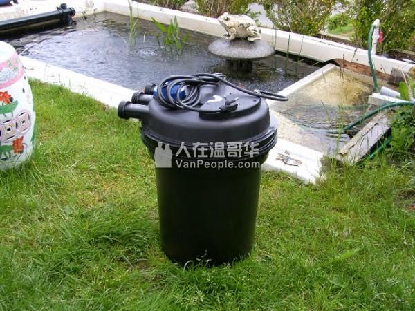 全新室外鱼池过滤器,内部有UV杀菌灯,适合室外大鱼池。原价583,搬家超低价295