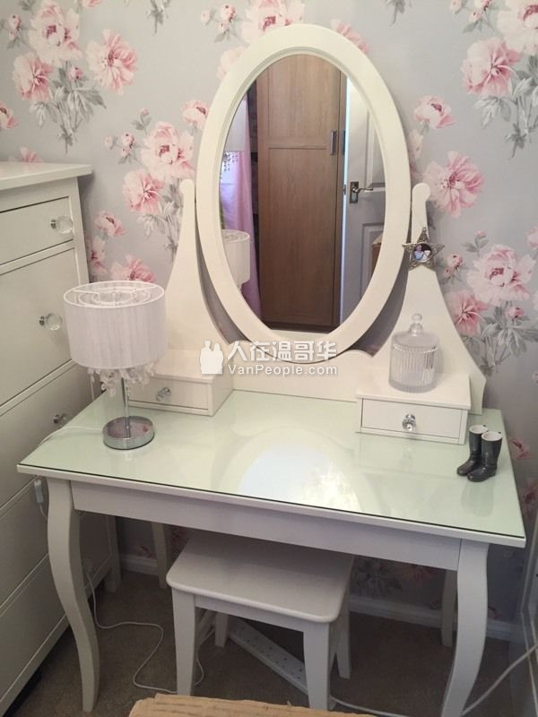 Ikea hemnes 604 615 8288 - Hemnes dressing table with mirror white ...