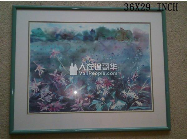 名画家 Vita churchill 水彩画包框 $50
