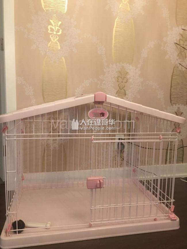 全新日式爱丽丝狗笼赠狗窝及宠物其他用品