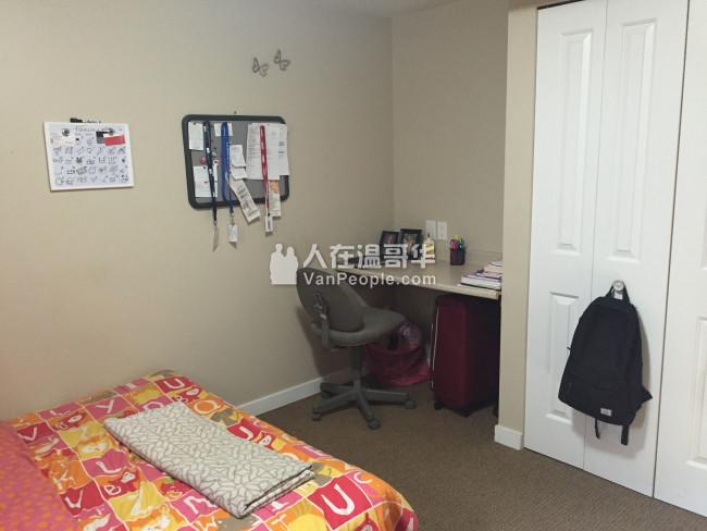 北本拿比三卧室一大厅明亮Basement出租,临近SFU、Westright小学、Burnaby North中学