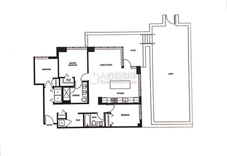 列治文市中心AVANTI 3楼加书房全新1143尺公寓 仅仅$999,999 不用抢!