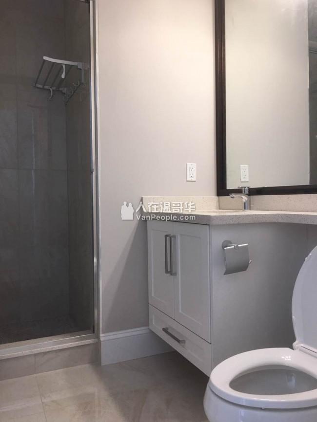 本拿比Metrotown 附近全新屋独立出入2房1厅出租,新房全新装修全新电器