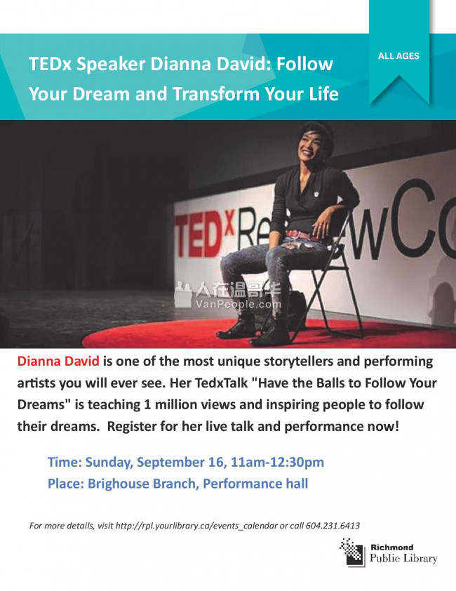TEDx 现场演讲及表演Dianna David