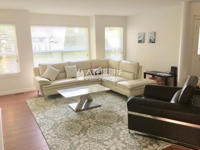 BCIT校区房近丽晶本拿比中心区全新装修的别墅一楼套房、单房招租