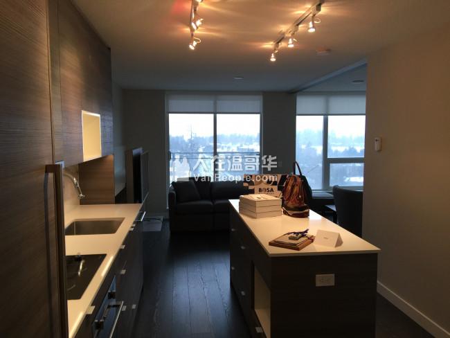 出租Surrey中心全新高层公寓 两房一个半卫 近SFU Surrey校区