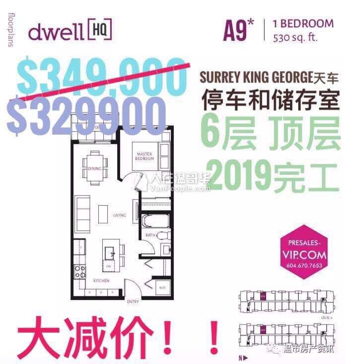 $41万一房全新2018十一月完工楼花高贵林!