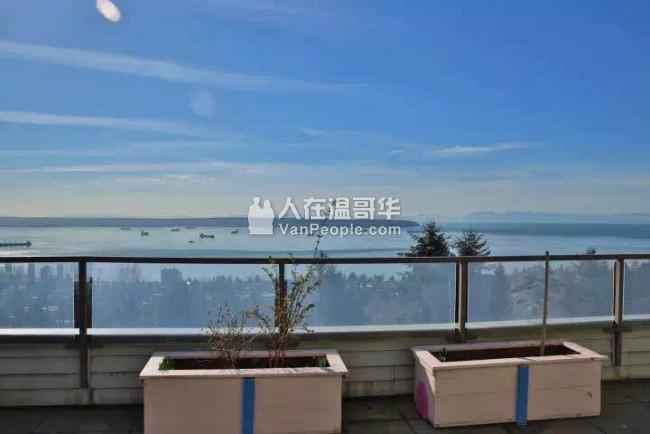 【精誠地產】西温哥华壮观的2br公寓,海洋城景!