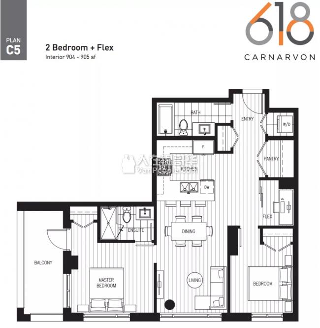 【加西置业楼花团购】*618 Carnarvon* 新西敏河畔精品高端公寓 宁静与便捷的完美结合