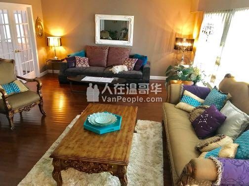 降價Richmond 陽光豪宅區6房含高級家具整棟出租