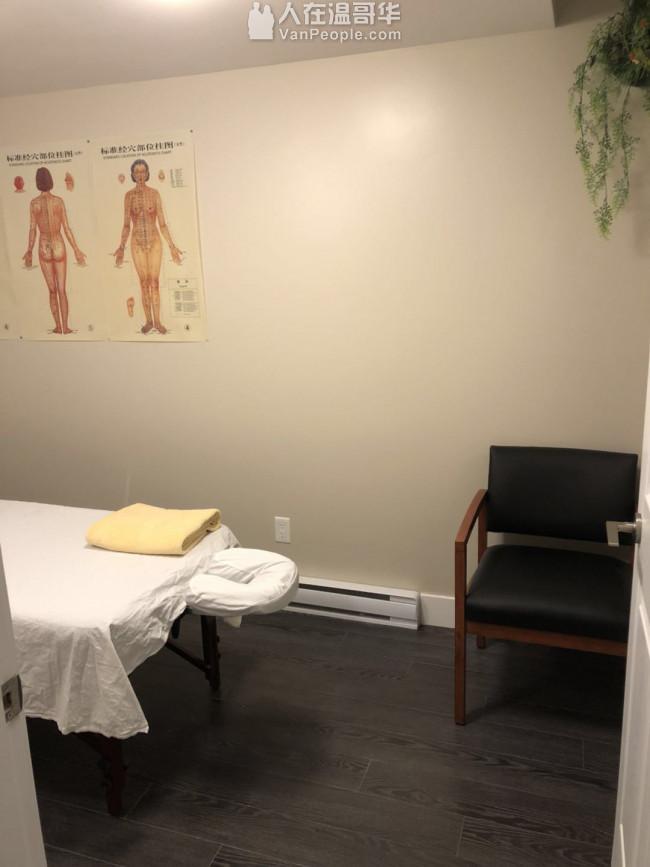 New West 中心位置中医针灸按摩商铺出租,全新装修,证书齐全,随时可开业。