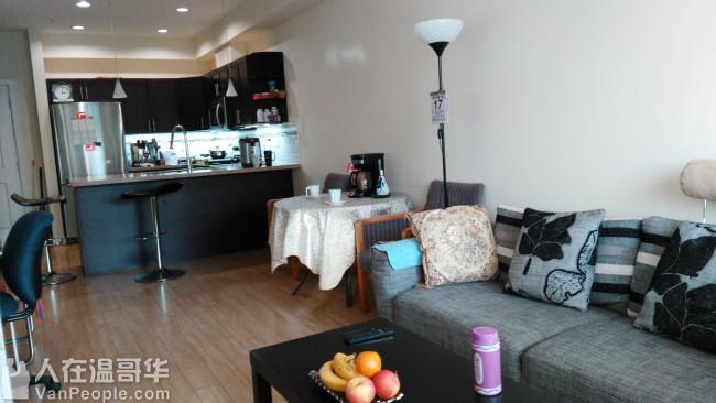 七百尺六面新公寓一室一厅一卫短租,紧邻丽晶,Pattersont天车站中央公园图书馆,环境安静房间宽敞明亮干净,交通便利