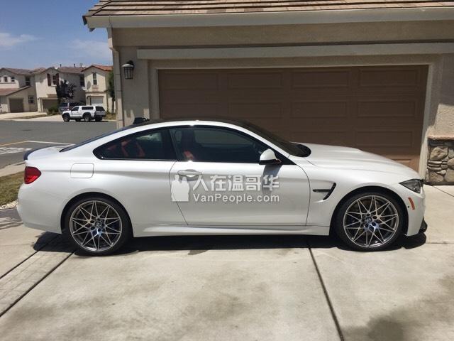 2018 宝马 BMW M4 白外红内 顶配置