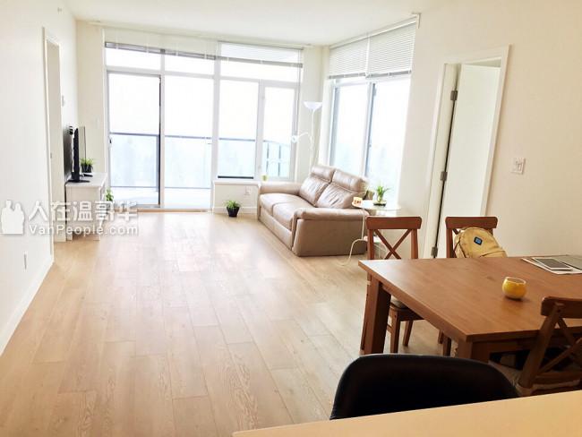 高贵林中心两室两卫公寓出租家具齐全即刻入住