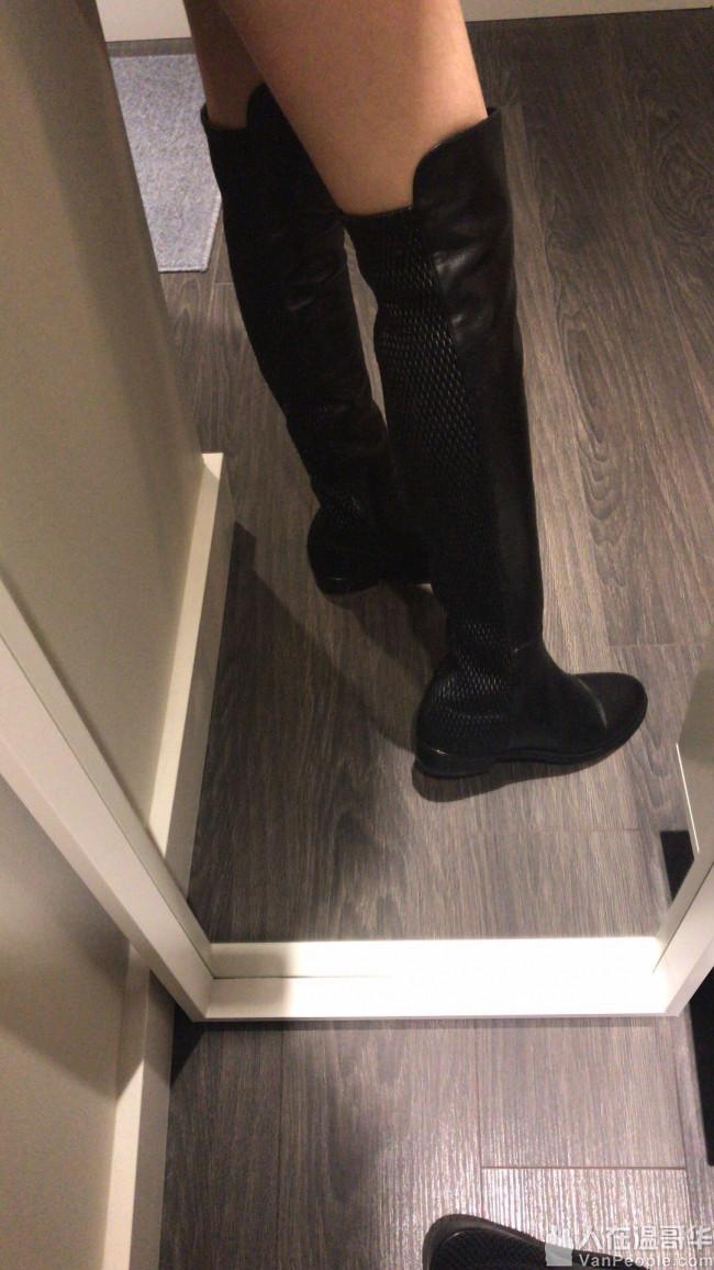 便宜出售闲置99新Stuart Weitzman皮质过膝靴,只穿过一次