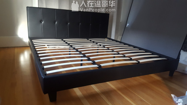 转让全新床頭櫃床架床垫 King, Queen和Double
