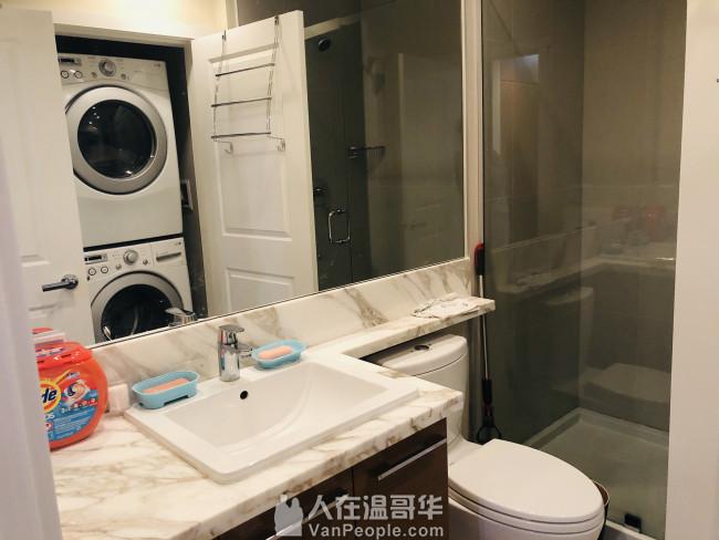 UBC 水泥2房2卫单位,含简单家具,随时入住