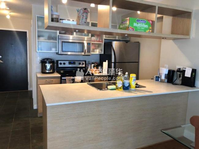 温哥华DT23-24层豪华跃层 2室1厅2.5卫1书房出租