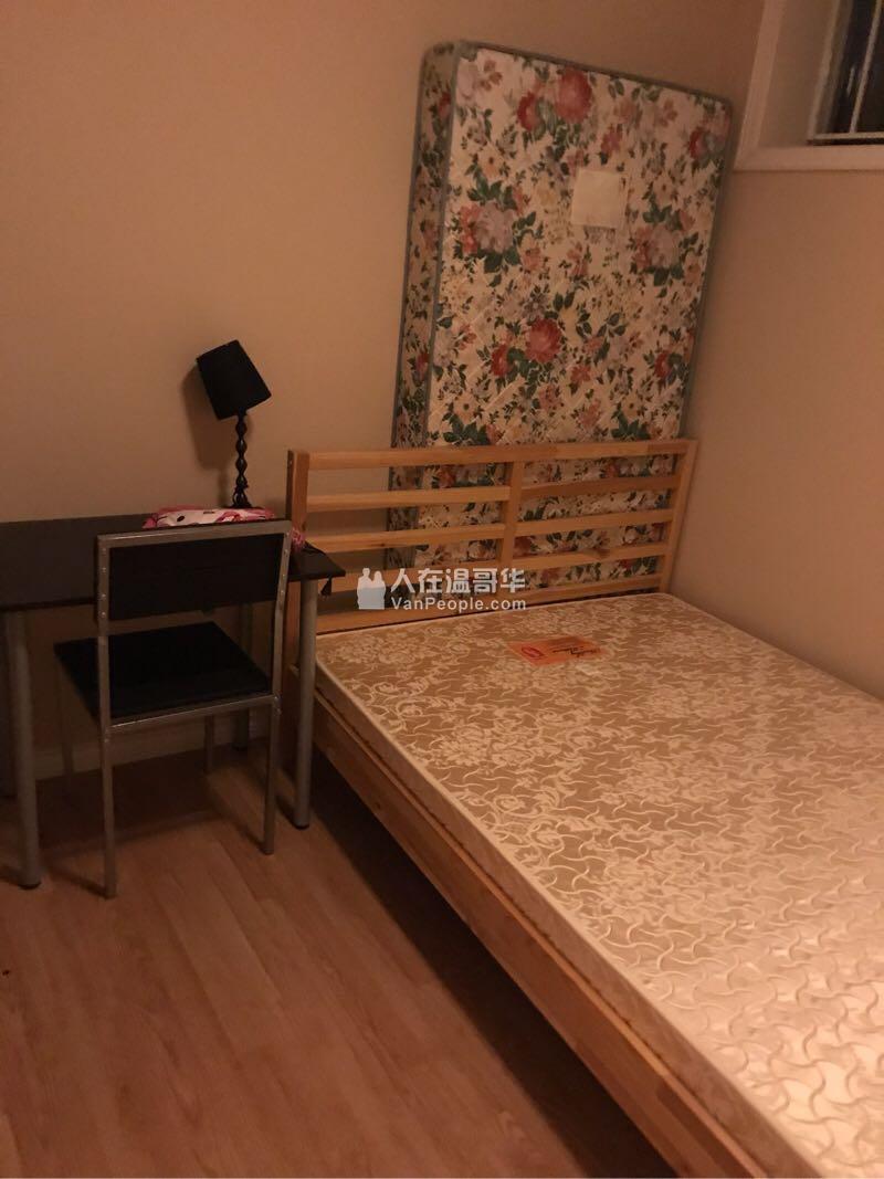 温西basement一房一卫一厅出租