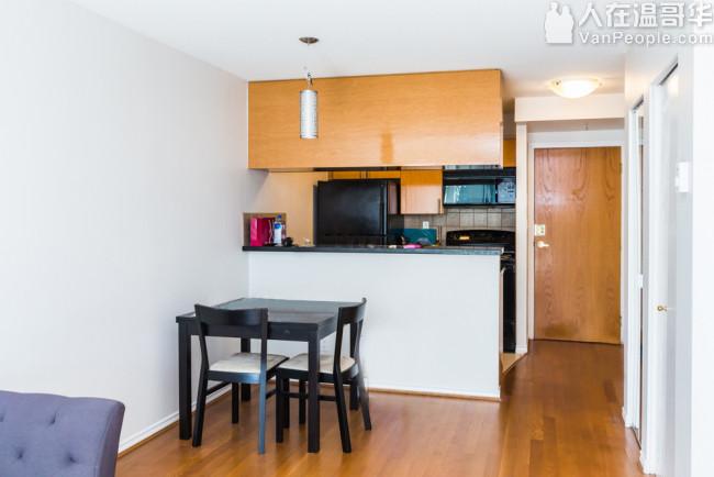 公寓出售【Downtown:耶鲁镇 yaletown 中心 / 一卧室一书房一卫浴一厅】