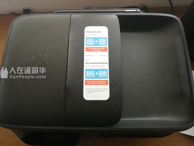 惠普打印机带全新墨盒 40加元