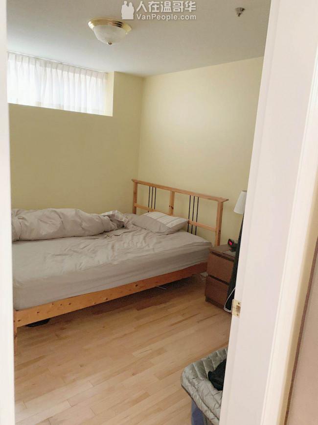 温西近UBC,langara等。独立出入一室一厅半地下室。阳光充足,优雅安静西人社区。