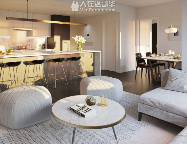 本那比市最中心位置高端公寓,社区配置齐全,投资自住的绝佳机会,