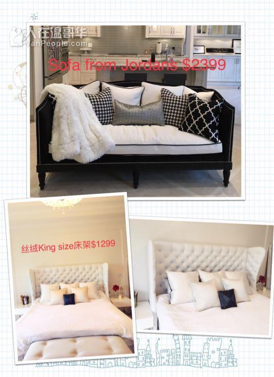 高端家具贱卖中,美国品牌沙发,餐座椅套装,贵妃椅,镜子,及闲置物品