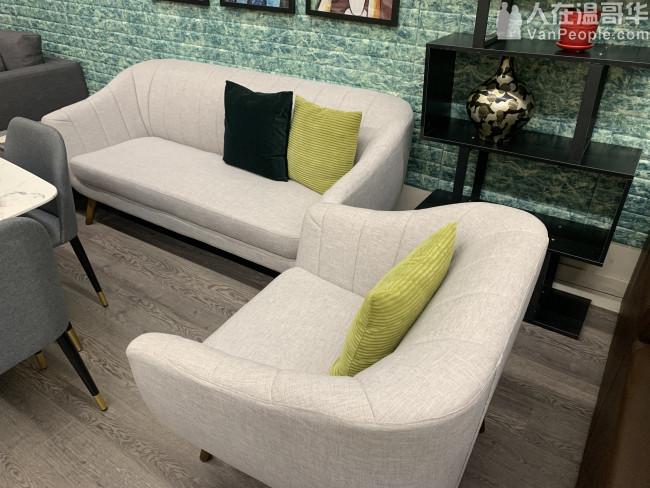 清仓小款特价布艺沙发组合三人位+单人沙发 小巧美观  舒适耐用