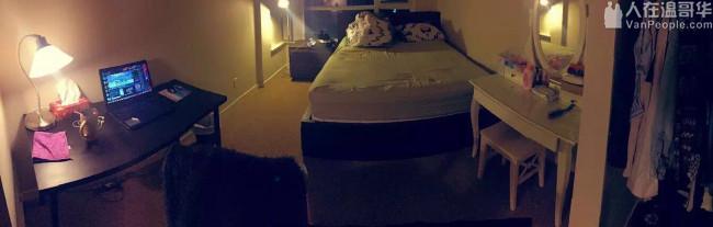 Vancouver downtown两室一厅公寓,独立卫生间,找一女生租客合租