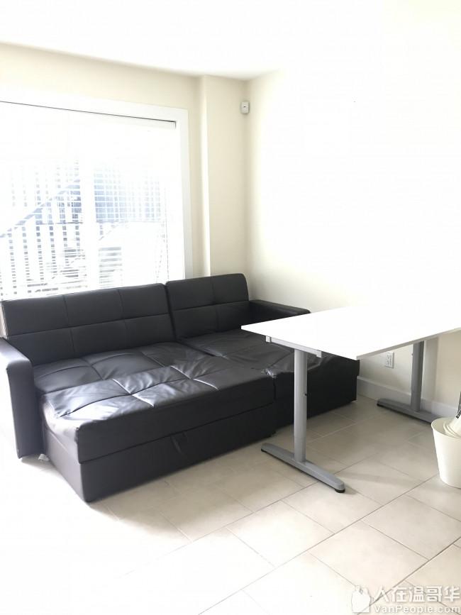 $150 便宜卖真皮黑色沙发 (需自提)(仅短信联系!!!)