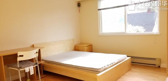 近ubc西区dunbar夹32街楼上单房分租合女生
