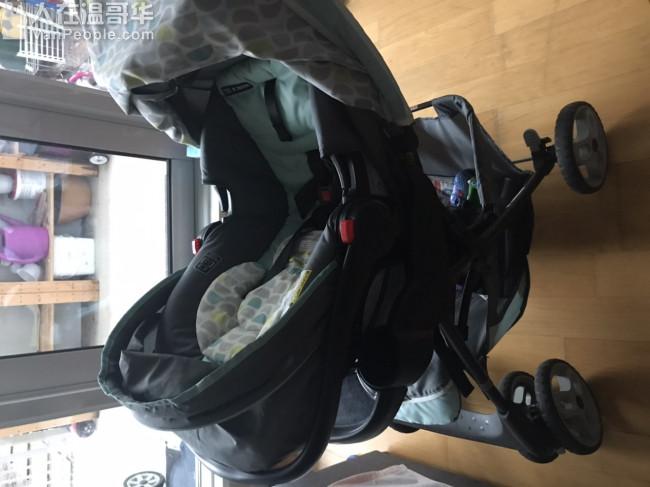 婴儿推车和Car seat成套,九成新