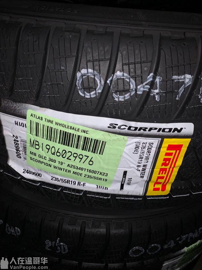 全新原厂奔驰GLC 防爆雪胎套件 低于半价出!