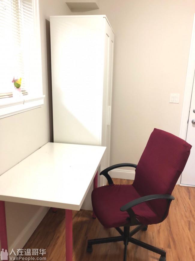 靠近SFU大学平地单独出入的一居室出租