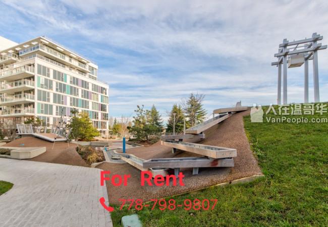Richmond Concord Garden 全新高层1房1Den公寓即日起租