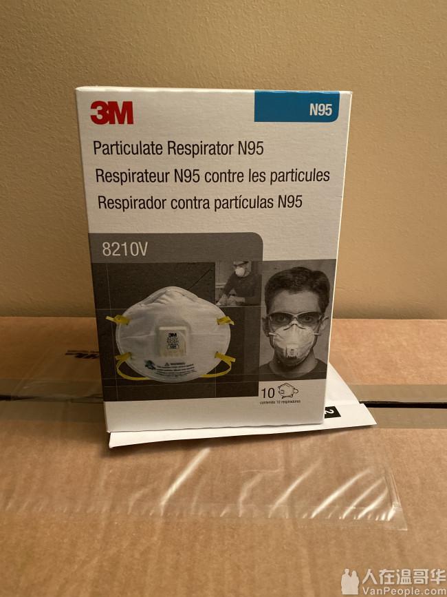 3M N95口罩(8210V)一盒10个 每盒60刀 还剩4盒