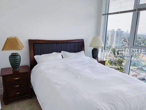 全新,带冷暖空调!紧邻Metrotown,Edmonds,全新2房2卫大户型高层公寓出租