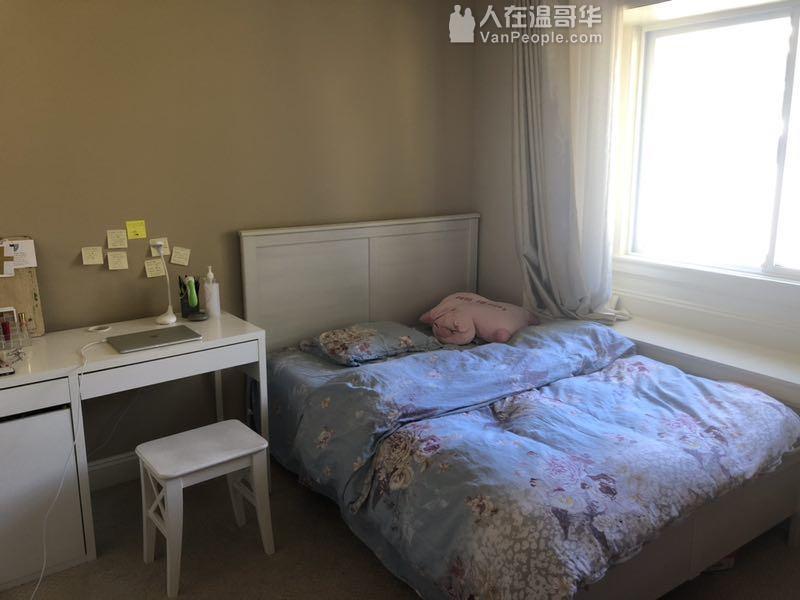 近SFU house 内一间单间出租,适合安静整洁的女生租客