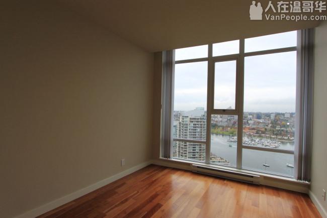 Yaletown超大2房+1书房公寓出租,全海景超豪华!