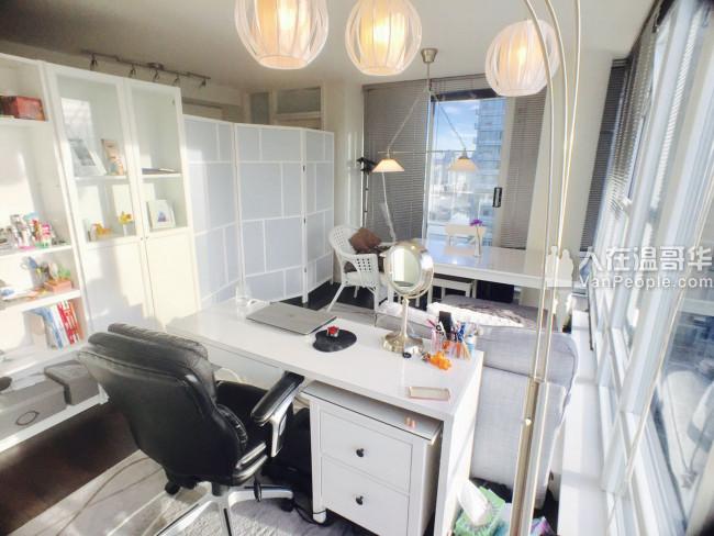 市中心Downtown高级女生公寓超大客卧 和阳光den分租 交通灰常便利 价格便宜全包~~