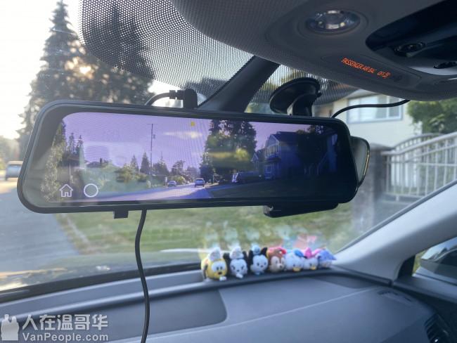 专业安装 加装 超清1296p高清夜视倒车影像 行车记录仪一体机