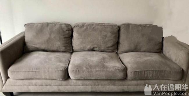 二手三人沙发 很大 白菜价 喜欢来问