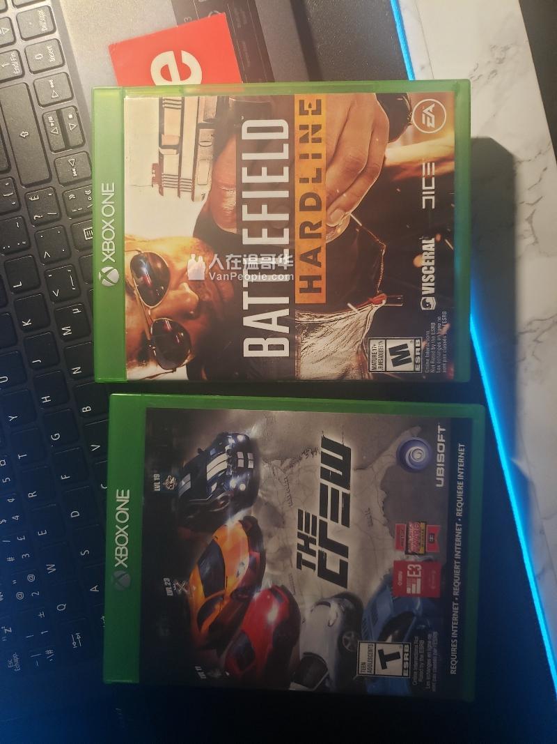 两个xbox one 游戏 2个一起$5