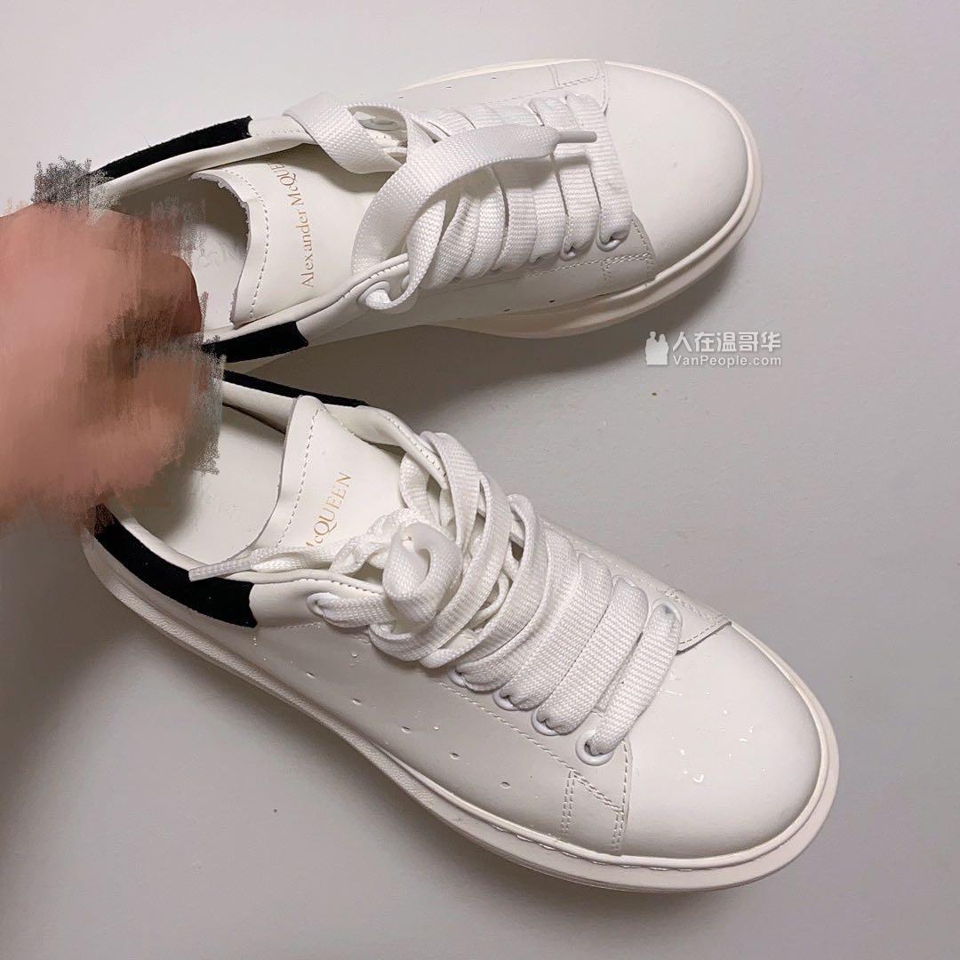 二手99新alexander mcqueen小白鞋
