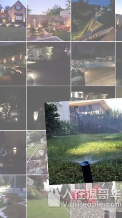 大温地区专业自动洒水系统庭院灯光公司,政府牌照,12年经验,大温地区专业花园自动洒水公司。花园洒水系