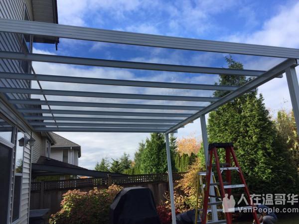 专业安装铝合金或玻璃上盖,一定要找最好的露台上盖专家