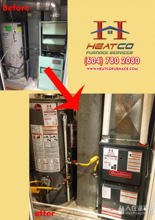 HeatCo 专业 暖气/冷气 维修!7天 -24 小时 急修,政府执照暖电工,最好的价钱