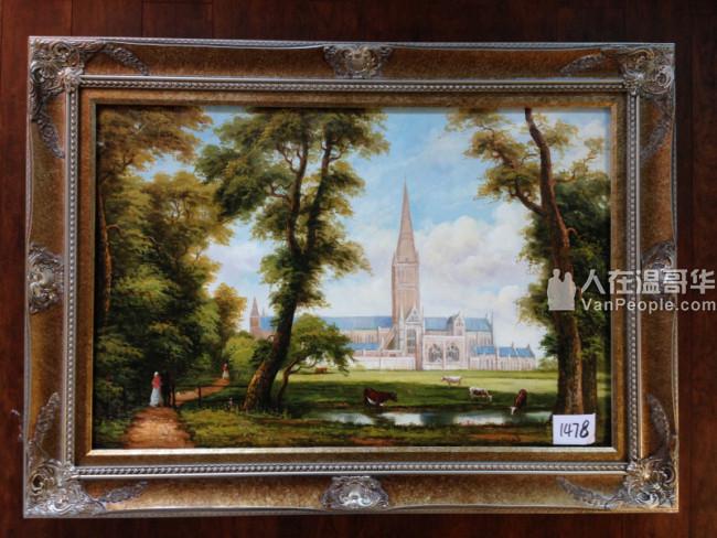 天盈画廊:风景油画、人物油画 画框 木线条 弓板画 工艺品。可裱油画、国画、十字绣、想、相片···